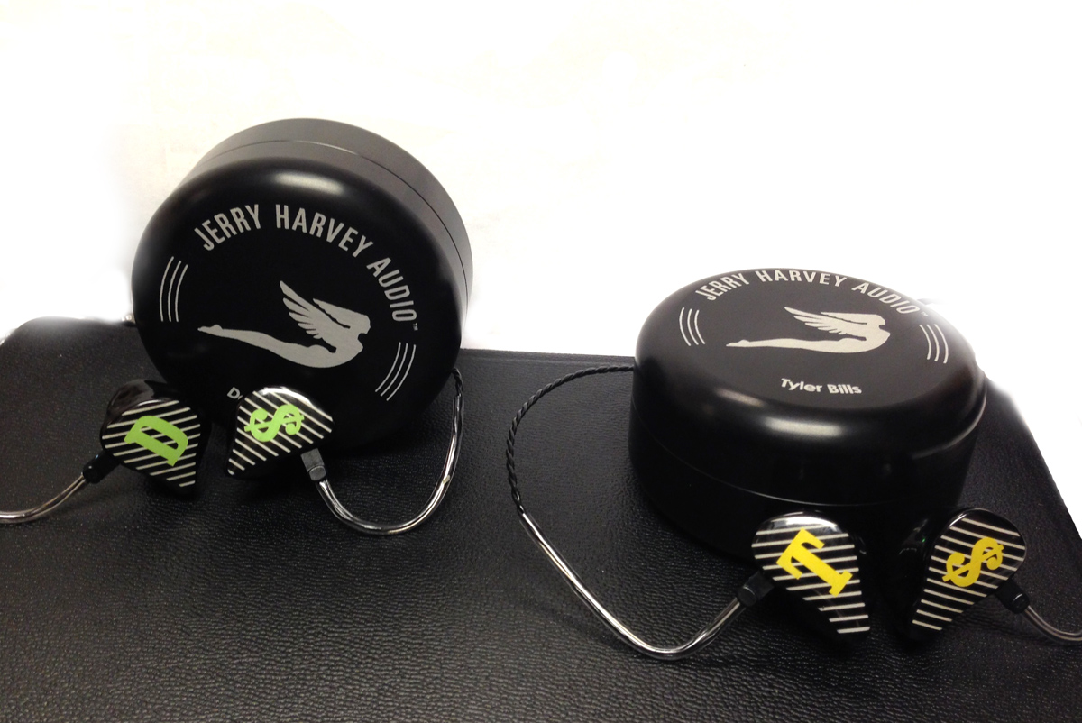 Devin and Tyler just got in their new custom in-ear monitors from JH ...
